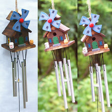New 8 Tubes Copper-tone Wood House Wind Chimes Home Yard Garden Decor Windchime