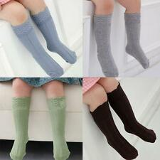 Lovely Toddlers Kids Girls Cotton Lace Soft Knee High Cuffs Kid Socks Tights