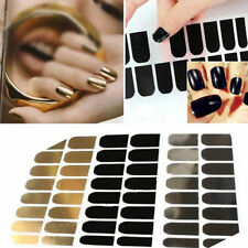 16pcs  DIY Nail Art Tips Decal Sticker Patch Metal Foils Armour Wraps Decoration