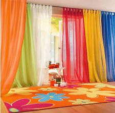 Hot Home Valances Floral Tulle Voile Door Window Curtain Drape Panel Sheer Scarf