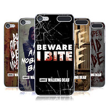 OFFICIAL AMC THE WALKING DEAD TYPOGRAPHY HARD BACK CASE FOR APPLE iPOD TOUCH MP3
