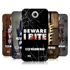 OFFICIAL AMC THE WALKING DEAD TYPOGRAPHY HARD BACK CASE FOR HTC PHONES 3