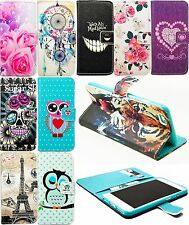 Book Style Flip Stand PU Leather Card Wallet Phone Protective Shield Cover Case