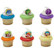 Inside Out Movie Cupcake Topper Rings - Set of 12 Riley's Emotions