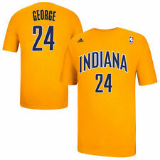 Mens Indiana Pacers Paul George adidas Gold Net Number T-Shirt - NBA