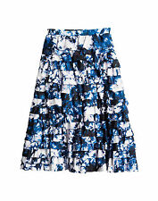 NWT $395 Cynthia Rowley Layered Silk Space Dye Skirt Women's Sizes 0,4,or 6