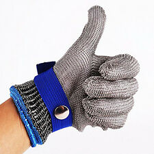 Safety Cut Proof Stab Resistant Stainless Steel Metal Mesh Glove Cotton Glove