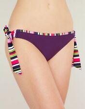 Just Peachy Figleaves Tequila Purple Haze Tie Side Bikini Brief Size 18 XL NEW