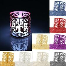6pcs Love Birds Heart Paper LED Tea Light Holders Wedding Supplies