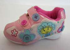 Fifi & The Flowertots Gingham Girls Pink Rip Tape Strap Trainers UK 5 & 10 (KRS)
