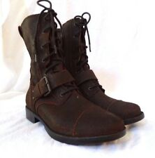 Ugg Australia Brown Marela Lace Up Ankle Moto Boots Ladiers 6 UK 4.5