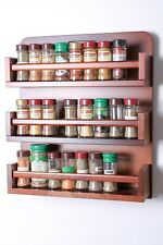 Wooden Spice Rack – Open Top – 3 Tiers – Wooden Bar – 54 Herb and Spice Jars