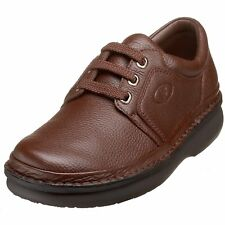 Propet VILLAGE WALKER M4070 Mens Brown Leather Lace Up Comfort Walking Shoe
