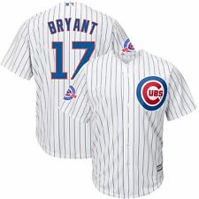 Kris Bryant Chicago Cubs Home White Cool Base Jersey w/ Wrigley 100th Patch Men