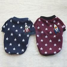 2 Colors Pet Dog T Shirt Cat Apparel Doggy Outfit Clothes Stars Rocket Decor