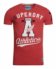 New Mens Superdry Factory Second Halo T-Shirt Grit Tag Red