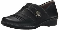 Naturalizer RESPONSE Womens Black Leather Comfort Slip On with Strap Shoes