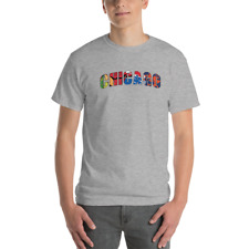 Chicago Sports Teams Unisex T Shirt Cubs Bulls Bears Blackhawks Novelty Tee Top