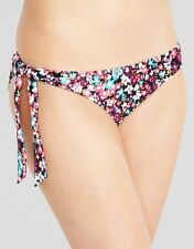 Just Peachy Midnight Martini Tie Side Bikini Brief Black Floral Figleaves NEW