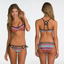 2016 Sexy Padded Bra Bikini Brazilian Printed Swimwear Push Up Bathing Swimsuit