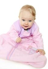 All Year Sleeping bag with Sleeves Pink Fair 2.5 Tog Size 0-6 to 12-36 months