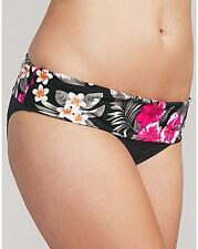 Sophina Figleaves Flora Fold Waist Bikini Brief Black Red Floral Various Sizes