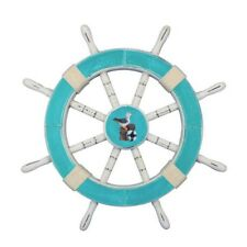Handcrafted Nautical Decor Decorative Ship Wheel with Seagull Wall Decor
