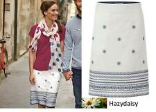 White Stuff Native Island embroidered summer skirt 8 - 18 cotton linen
