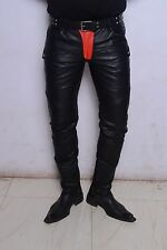 Code Leather jeans pant  biker moto skinny skintight punk steampunk rock GTC