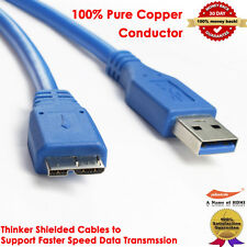 For Samsung Galaxy Note 3 S5 Super High Speed Micro-USB 3.0 Cable Cord Male 10ft