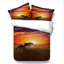 Dolphin Quilt Duvet Doona Cover Set Double Queen King Size Animals Bed Cover Set