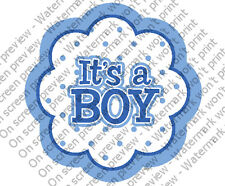It's A Boy Baby Shower Edible Cupcake Toppers - Set of 12 Toppers