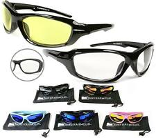 Motorcycle Goggles Glasses Night Riding YELLOW Clear Safety Wind Resistant Mens