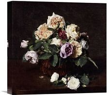 'Vase De Fleurs' by Henri Fantin-Latour Painting Print on Wrapped Canvas