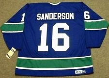 DEREK SANDERSON Vancouver Canucks 1976 CCM Vintage Throwback NHL Hockey Jersey
