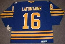 PAT LAFONTAINE Buffalo Sabres 1992 CCM Vintage Throwback Away NHL Hockey Jersey