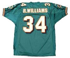 """RICKY WILLIAMS Miami Dolphins 2002 """"Reebok"""" Authentic Throwback NFL Jersey"""