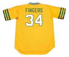 ROLLIE FINGERS Oakland Athletics 1973 Majestic Cooperstown Home Baseball Jersey