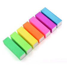 2/10X Fluorescence Colour Buffing Sanding Buffer Block Nail Art Manicure Tips