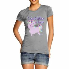 Twisted Envy Women's Unicorns Don't Believe In Dragons T-Shirt