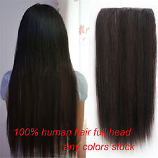 180g Any Length Thick 5Clips One Piece Real Human Hair Extensions Remy Clip In
