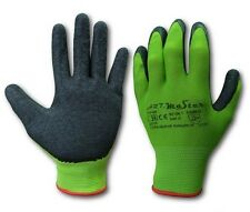 240 Pairs LATEX COATED WORK GLOVES RUBBER GRIP SAFE BUILDER GARDENING GREEN