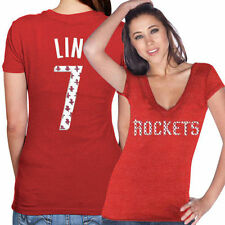 Jeremy Lin Majestic Threads Houston Rockets T-Shirt - NBA
