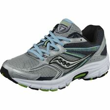 Saucony Women's Cohesion 9 Running Shoes in Silver/Grey w Blue in Sizes 6 to 11