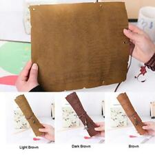 Vintage Pirate Map Roll Up Pencil Case Pen Brush Wrap Cosmetic Makeup Pouch Bag