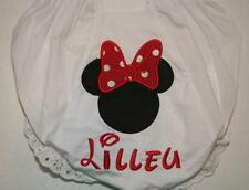 Personalized Monogrammed Diaper Covers Bloomers Appliqued Girl Mouse