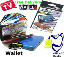 Aluminium Security Credit Card Wallet Debit/Credit Cards,ID, Cash & ID Holder