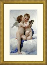 'The First Kiss' by William-Adolphe Bouguereau Framed Painting Print