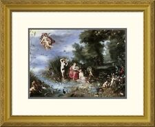 'Allegory of The Elements' by Jan Brueghel the Elder Framed Graphic Art
