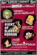Night Of Bloody Horror - 1969 - Movie Poster